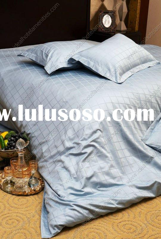 100% cotton luxury hotel jacquard bedding set ( bedcover, bedsheet, pillow case )