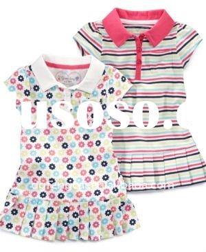 100% cotton trendy polo dress for baby girl,polo dress for girl