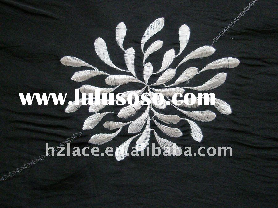 100%cotton voile african lace fabric
