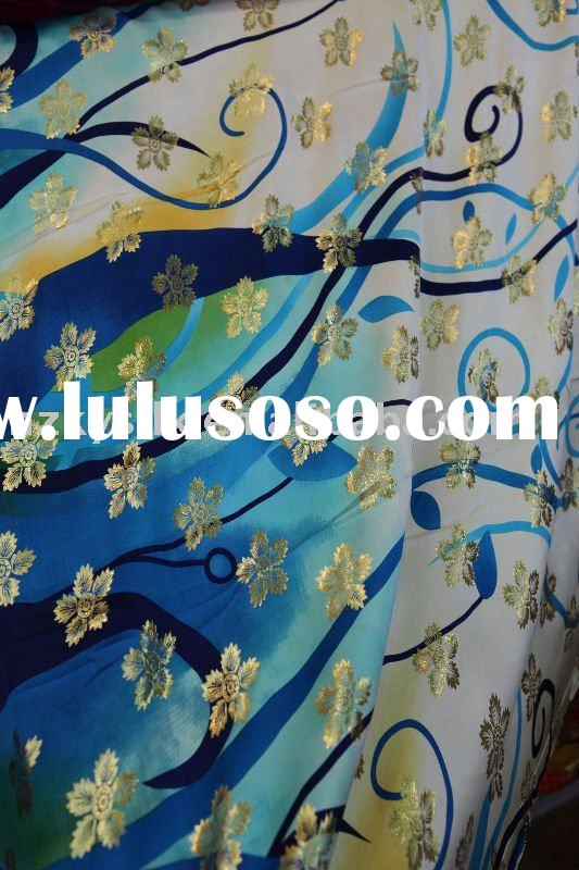 100%silk metallic fabric & silk satin & printed silk fabric