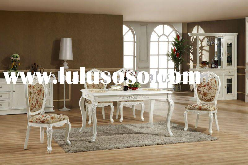 2011 Hand Carved European Style Solid Wood Dining Table and Chair EA012/EB002