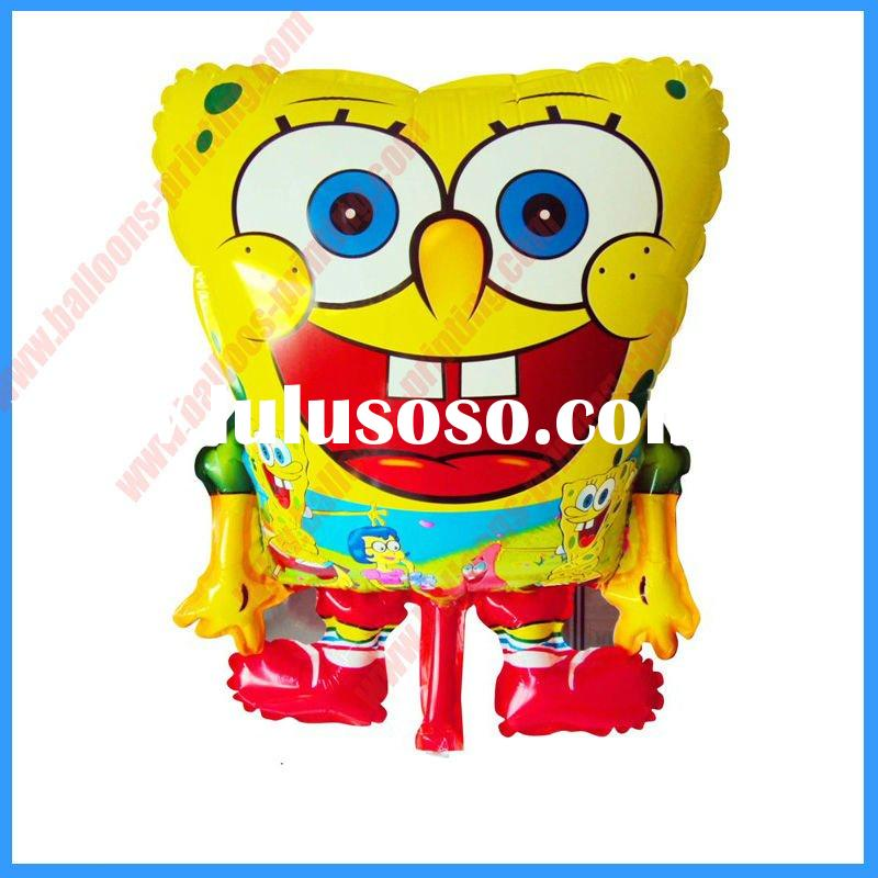 2011 New Arrival Spongebob Helium Balloon,Foil Balloons(Both Sides Printing Balloon With Self-Sealin