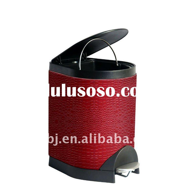 2011 New Style Luxury Design Leather Trash Can/Leather Furnishing Items/Leather Craft Gift