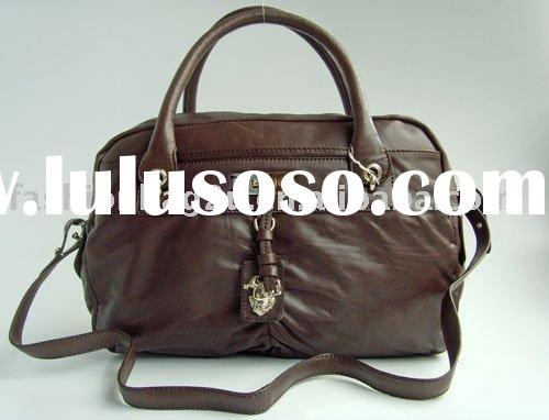2011 brand name real leather handbags no MOQ+Paypal
