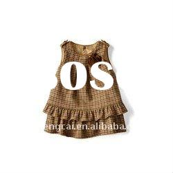 2011 fashionable printed frock design for baby girl