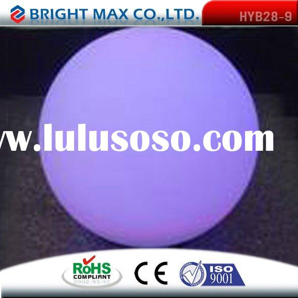 2011 new ball shape water-proof remote control plastic led flower pots light up pots lighting pots