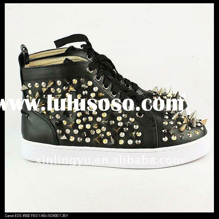 2012 new style rivets man shoes European and American fashion shoes, Hedgehog shoes fish head waterp
