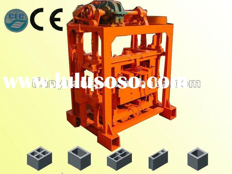 2012 newly wall material QTJ40B2 cheap price manual concrete/cement block/brick making machine