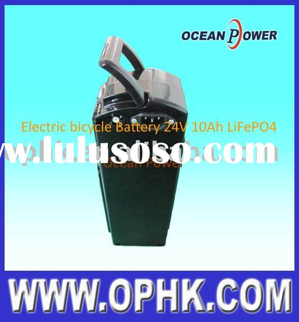 24V 10Ah LiFePO4 Electric Bicycle Battery