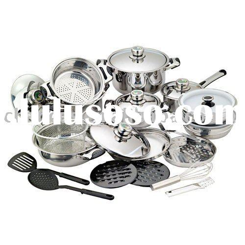 27 Piece Induction bottom Stainless Cookware Set