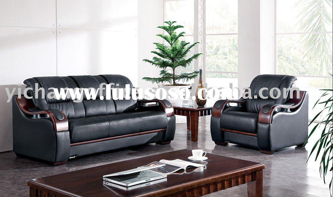 285# modern wood sofa,executive sofa,office waiting sofa