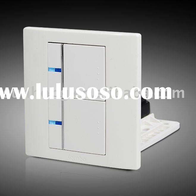 2 Gang Ultra Thin Panel Wall Mounted Switch (with LED Light)