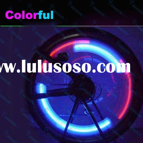 2 PCs Blue and Red Bicycle Bike LED Flashing Wheel Alarm Light