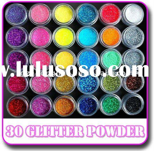 30 Colors Glitter Acrylic Powder Dust For Nail Art Tips
