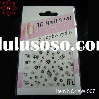 3D professional nail art crystal sticker