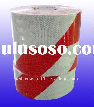 3M diamond diagonal red white reflective tape