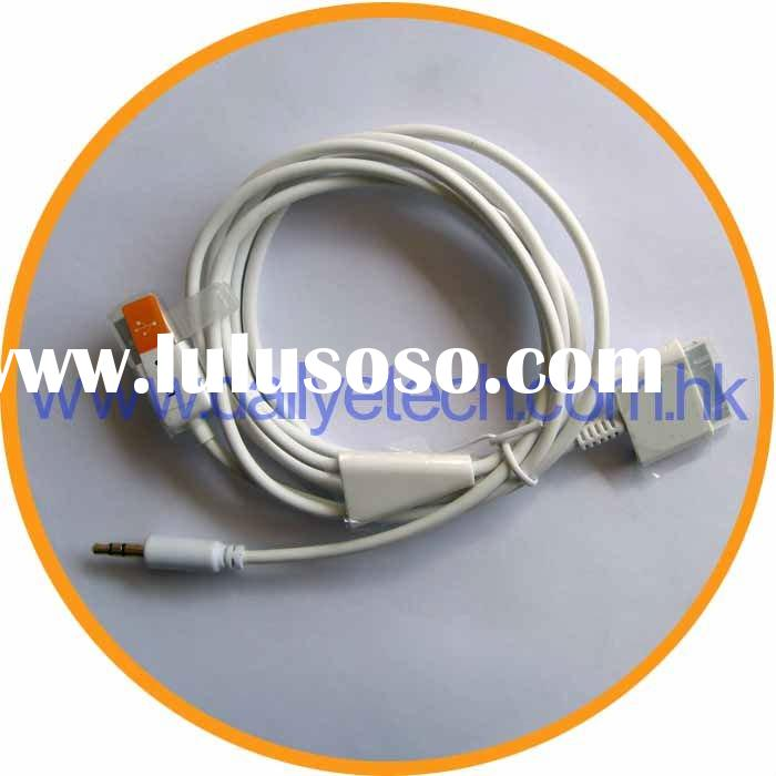 3.5mm Car AUX Cable for iPad for iPhone 4G 3GS 3G for iPod
