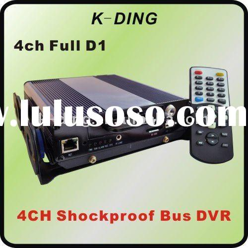 4 ch D1 Bus DVR, 4ch Mobile DVR system, 4 channel CCTV DVR for Bus, Taxi, Trucks