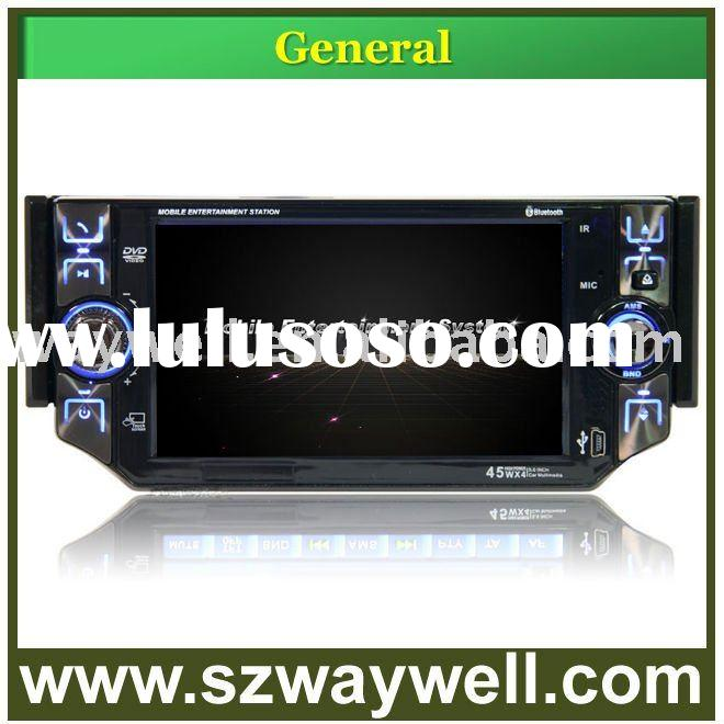 5 inch motorized detachable car DVD player with built-in GPS bluetooth SD USB IPOD control