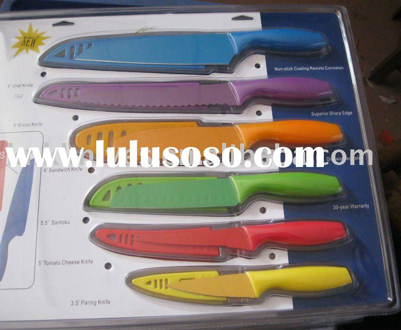 colored kitchen knives images