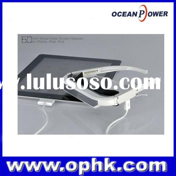 "72"" video glasses for ipad ,ipod,iphone 3d full hd white color wholesale"
