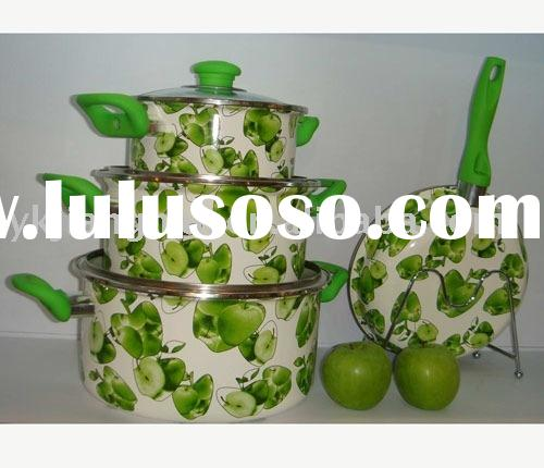 7Pcs Enamel Cookware Set