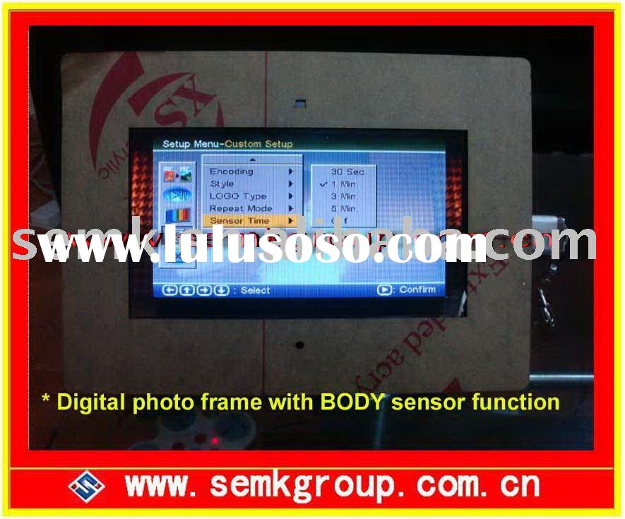 7inch to 15inch body sensor video player digital photo frame for advertising promotion---design for