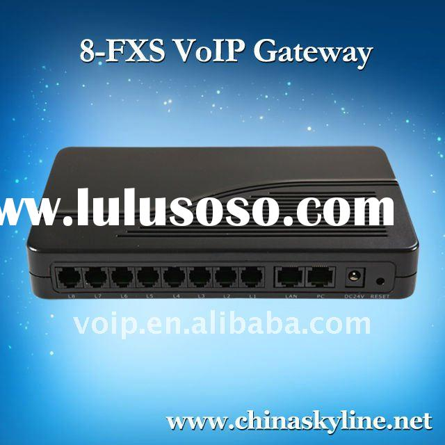 8 FXS VoIP gateway with H.323 and SIP,support ATA