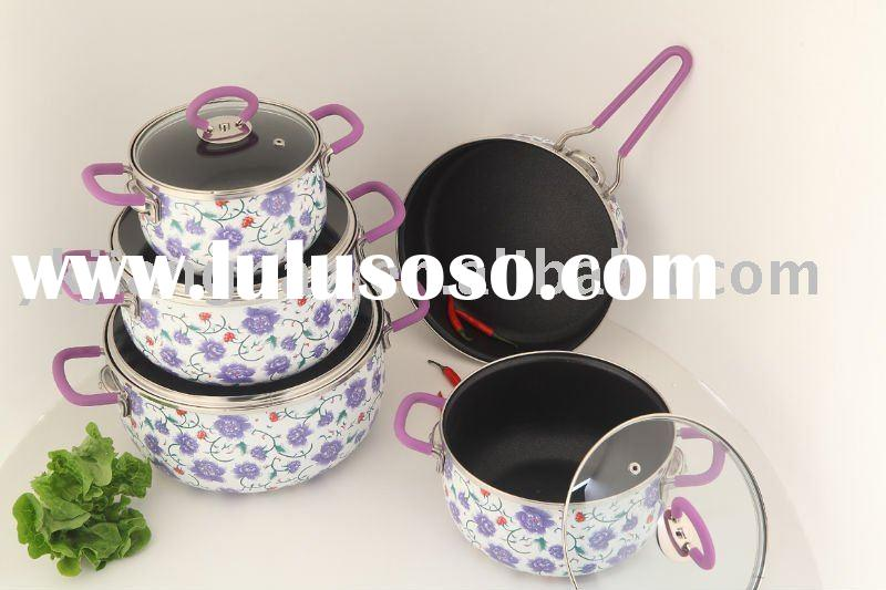 9 Pcs Enamel Cookware Set