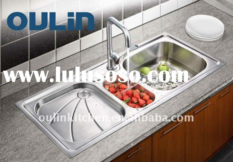 Abovecounter stainless steel italian kitchen sink(OL-363)