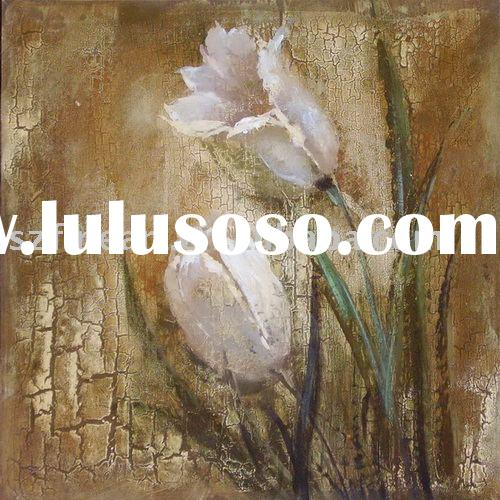 Abstract Flower Oil Painting of Modern Art for European Taste
