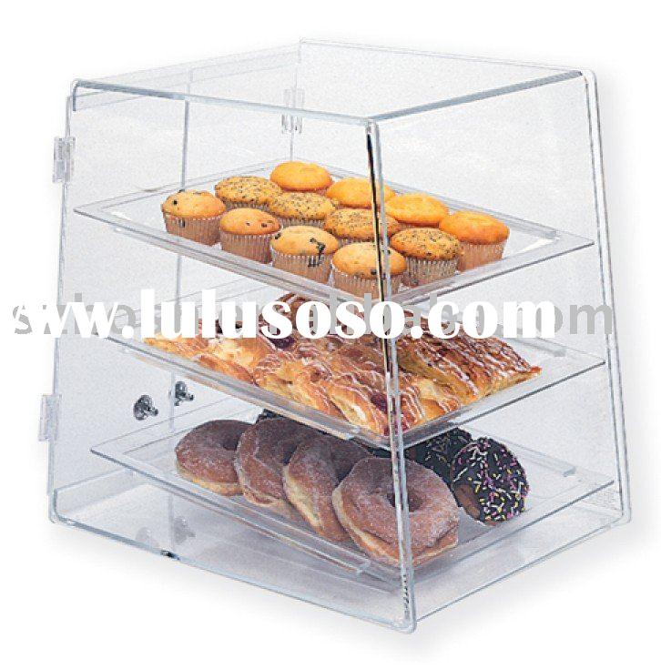Acrylic Bakery Display Case, Perspex Food Box, Plexiglass Cupcake Display