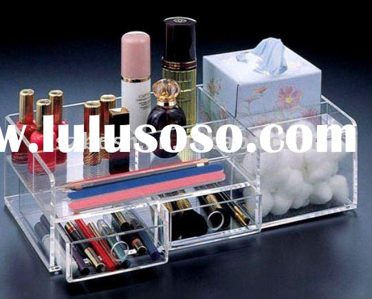 Acrylic Cosmetic Display, Perspex Lipstick & Brush Rack, Plexiglass Nail Polish Holder