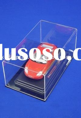 Acrylic car model cube display cases