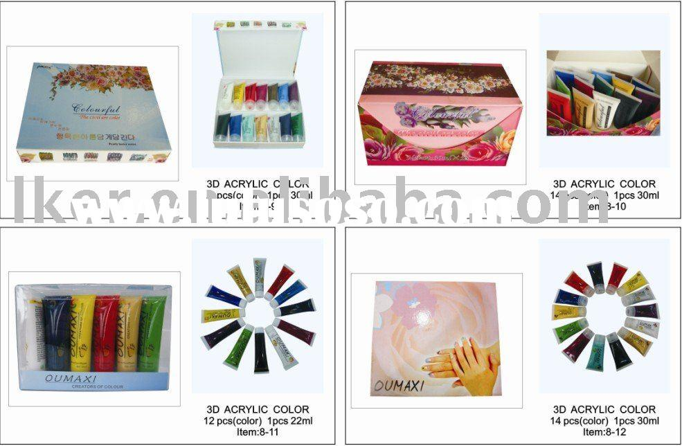 Acrylic color nail art paint nail art product factory acrylic color