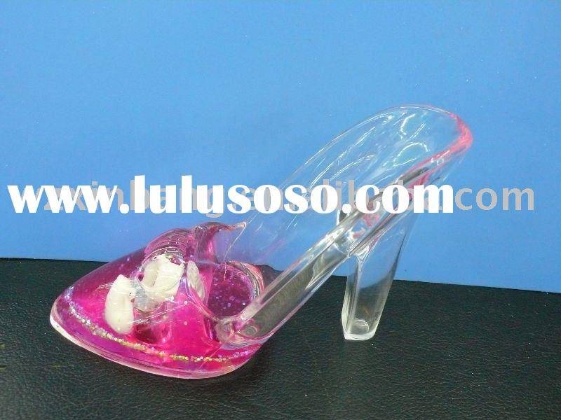 Acrylic high-heel shoes shape mobile phone display stand