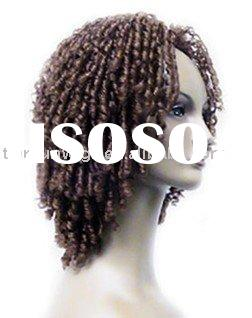 African American human hair lace front wig