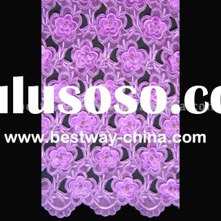 African embroidery lace fabric