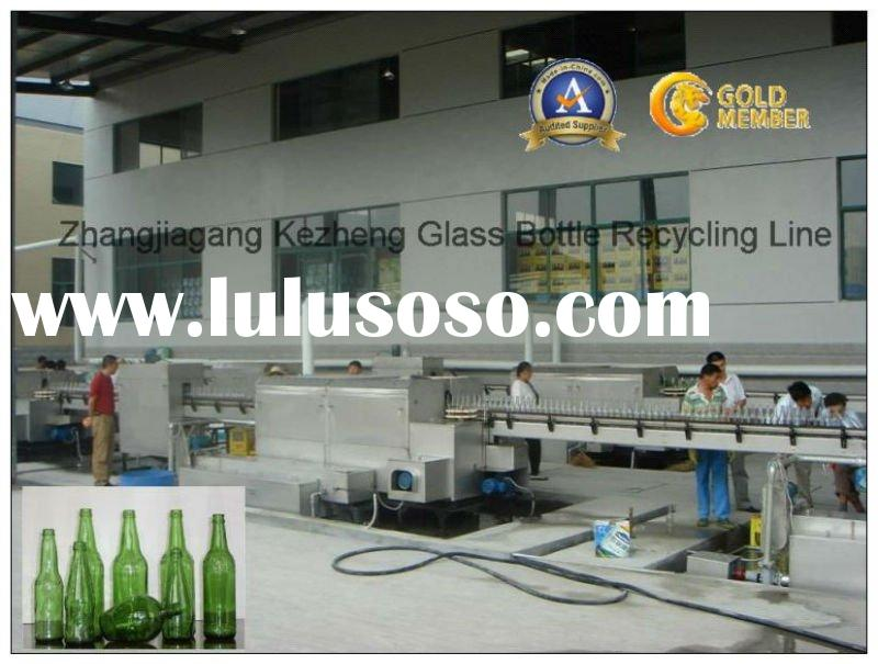 Automatic Glass Beer/Wine/Vinegar bottle Label removing hot alkaline soaking washing brushing machin