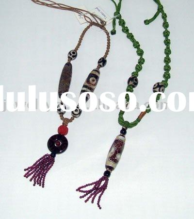 BJD Black agate, beads, and glass beads handicrafts Necklace
