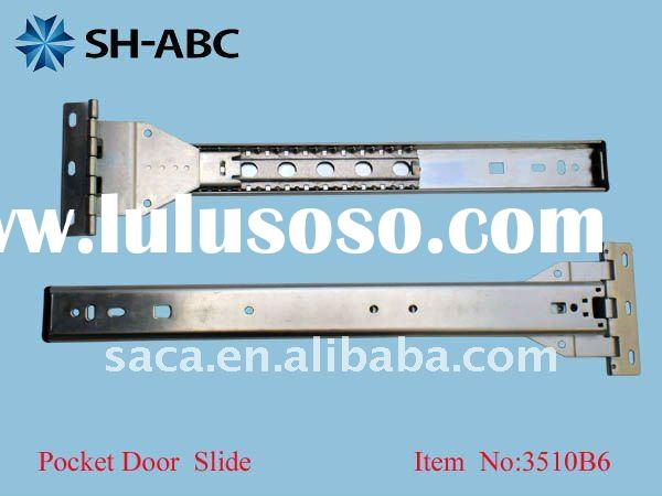 Ball bearing TV pocket door slide with hinge