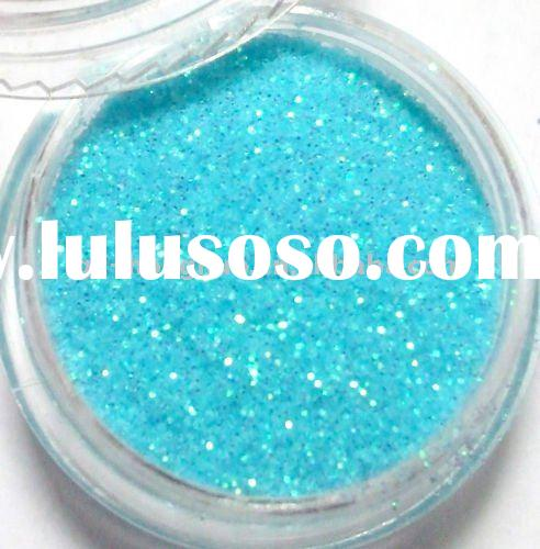 Blue Glitter Acrylic Powder Dust For Nail Art Tips HN492