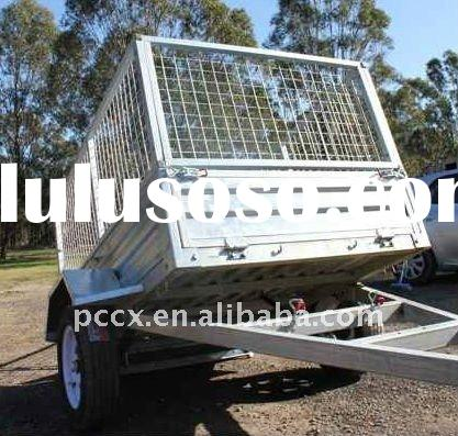 Box trailer 8x5 tipper Hot dipped gal/ mesh cage