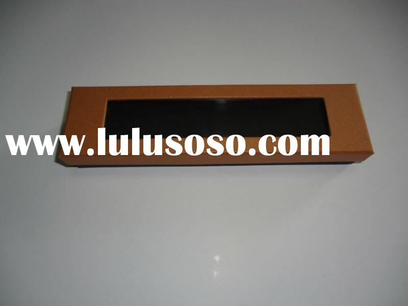 Brown Cardboard Jewelry box with Transparent PVC window
