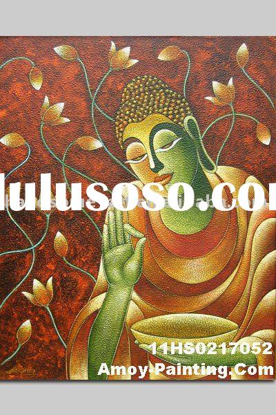 Buddha Abstract Oil Paintings On Canvas