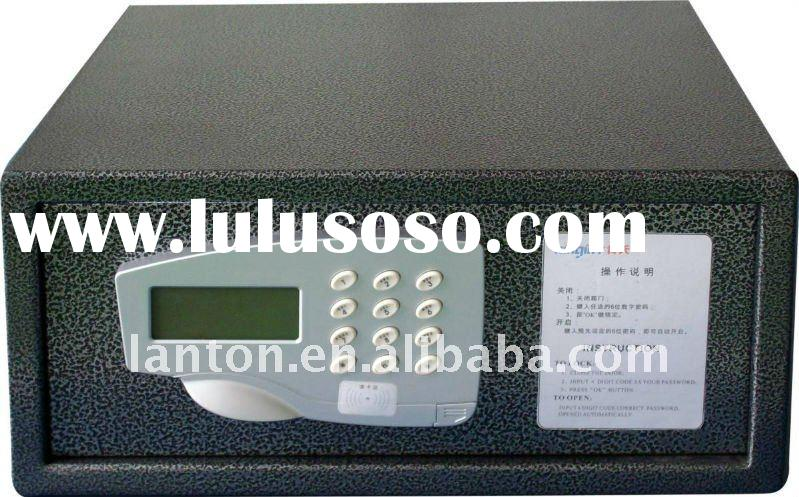 CE certificate 3~6 digital electronic hotel safe box with LED dispaly ,light keypad ,override key,10
