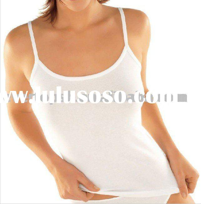 COTTON / SPANDEX LADIES' TOP, BASIC UNDERWEAR, WOMEN'S CAMISOLE,