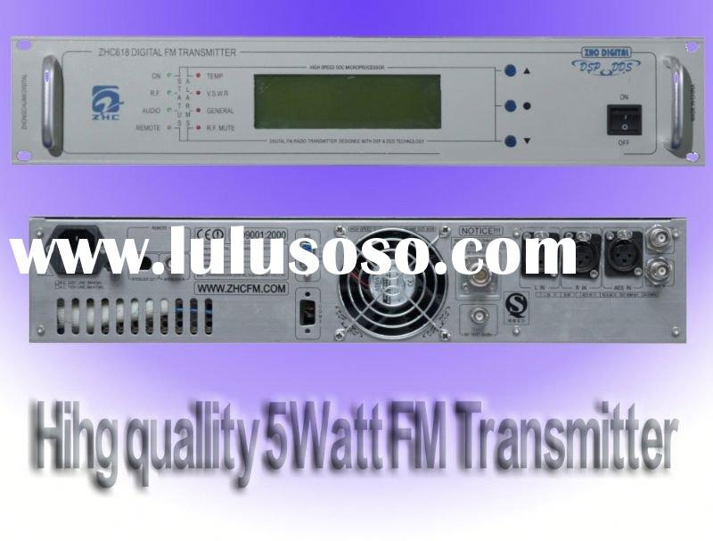 CZH618F 5W AES-EBU Digital FM Broadcast transmitter 87MHz-108MHz used broadcast equipment for sale