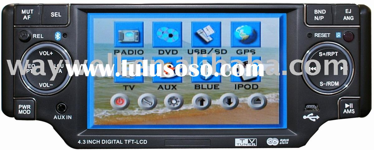 Car DVD player 4.3 inch motorized detachable with GPS, bluetooth, SD, USB