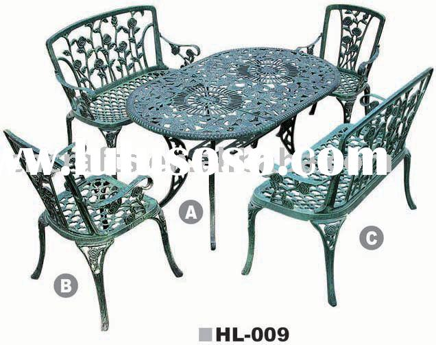 Cast Aluminum Patio Sets/Patio Garden Furniture, outdoor furniture , garden table & chair ,